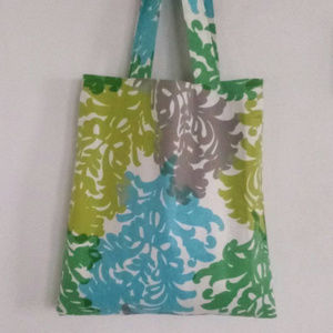 Large Bright Floral Tote